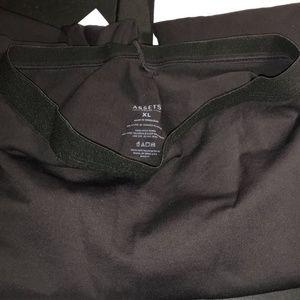 Assets By Spanx Pants - Fashion Women's Hi Waist Seamless Leggin Black XL